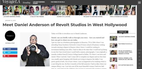 Daniel Anderson's Interview with VoyageLA Magazine